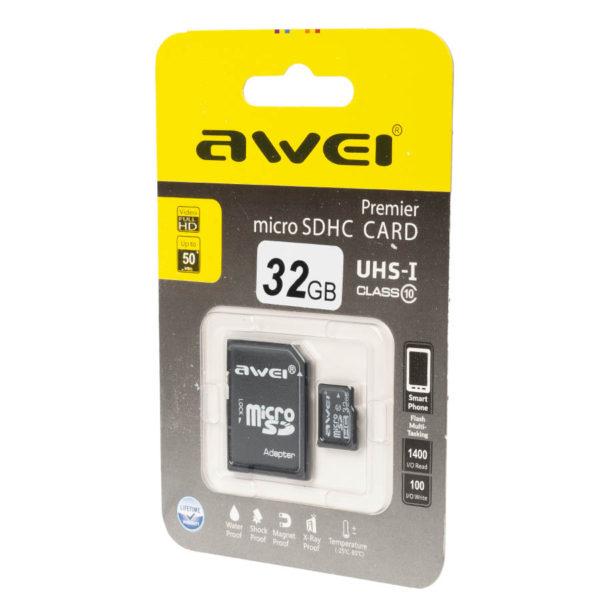 Карта памяти micro SDHC AWEI 32 GB