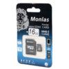Карта памяти micro SDHC Monlas 16 GB
