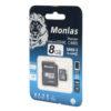 Карта памяти micro SDHC Monlas 8 GB