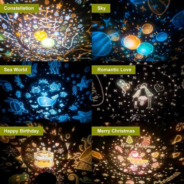 Ночник проектор звёздного неба Star Light с ушками