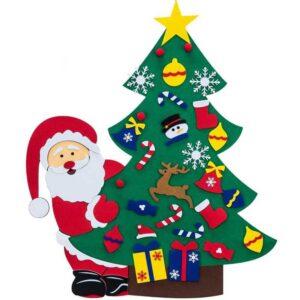 Войлочные елочные украшения Санта Клаус